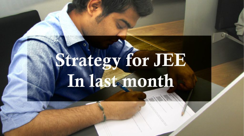 Strategy for JEE